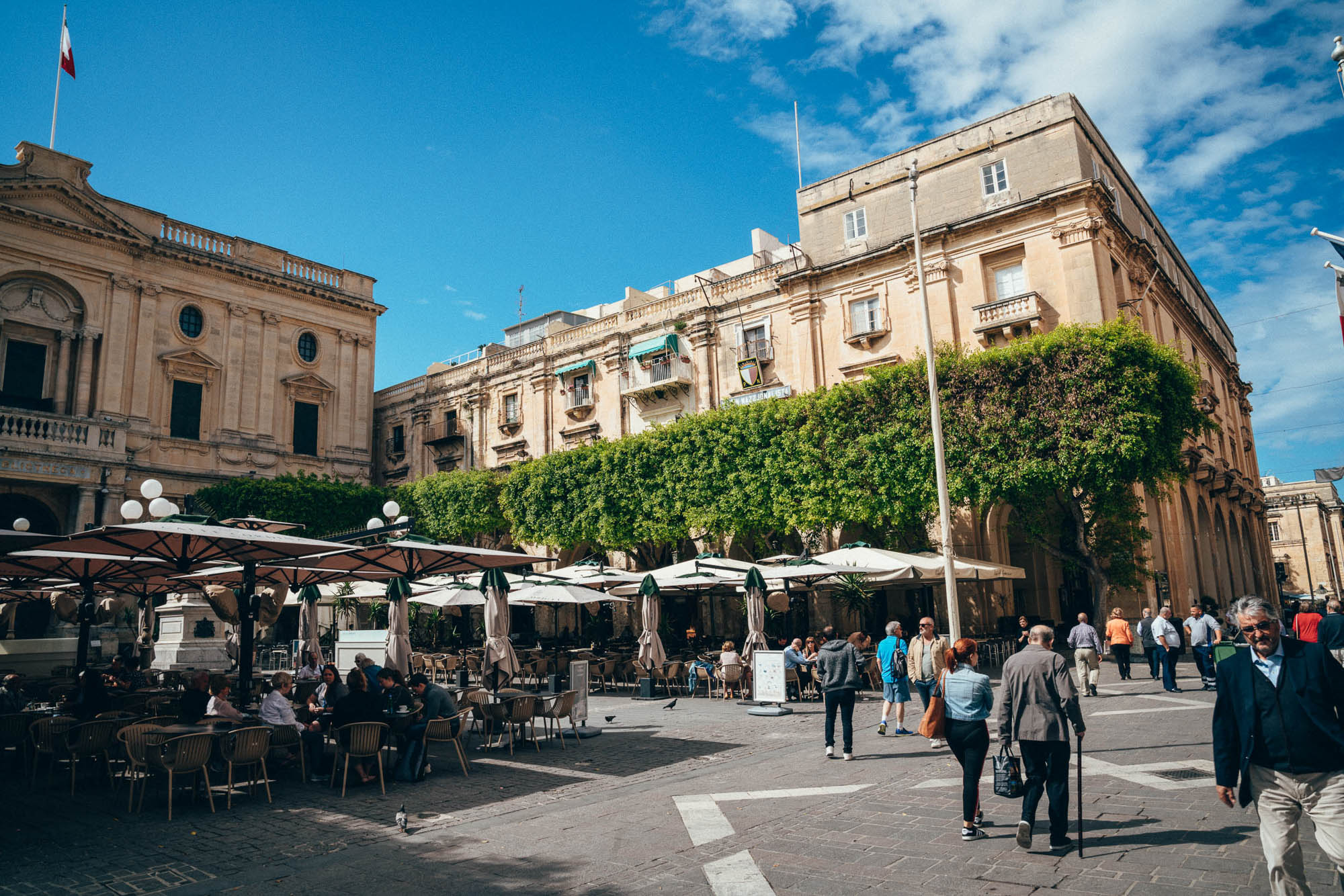 Republic Square is located in the city center of capital of Malta - Valletta.