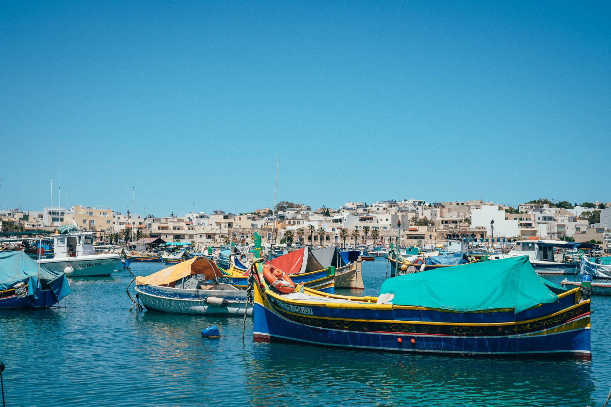 Marsaxlokk is a small traditional fishing village in Republic of Malta.