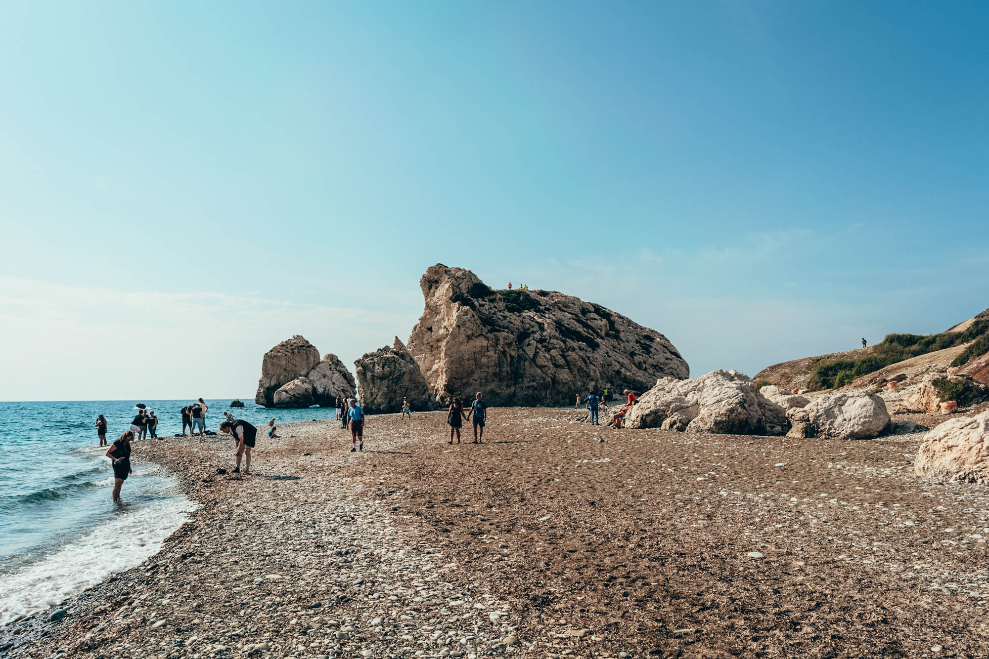 Aphrodite's Rock, a landmark located near Paphos. Republic of Cyprus, Europe