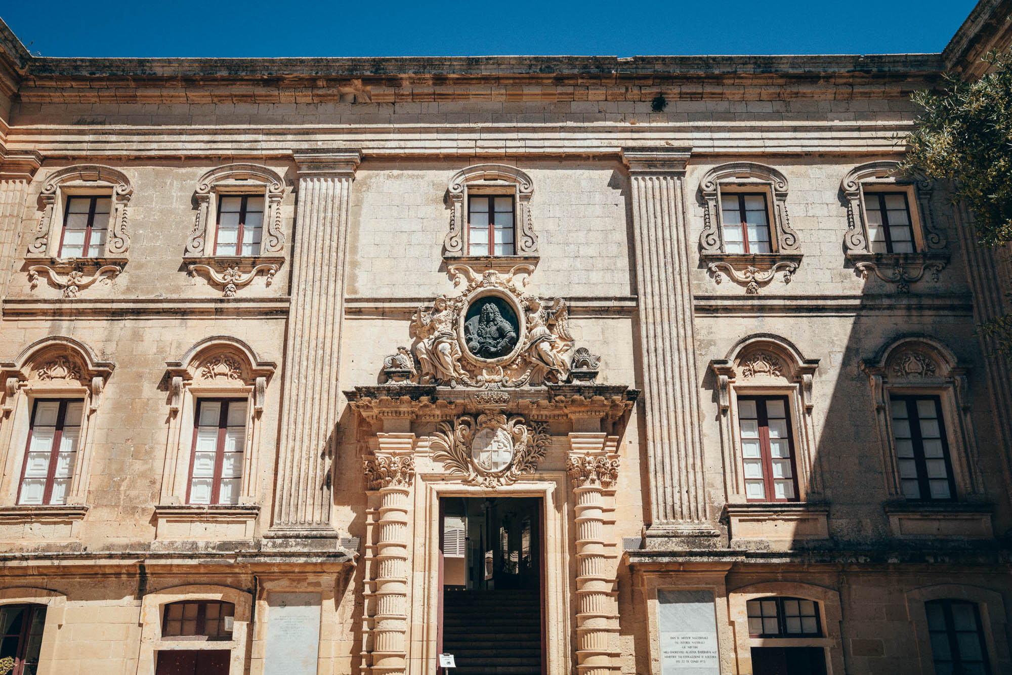 Vilhena Palace also known as the Magisterial Palace and Palazzo Pretorio, is a French Baroque palace in Mdina, Republic of Malta.